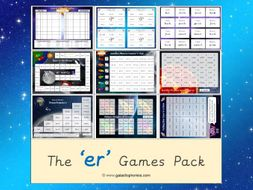 The 'er' (stretched) Phonics Games Pack (Phase 3)