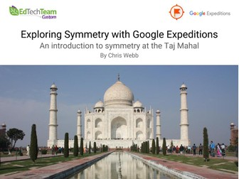 Symmetry of the Taj Mahal #GoogleExpedition