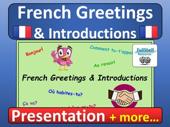 French Greetings / Introductions Presentation