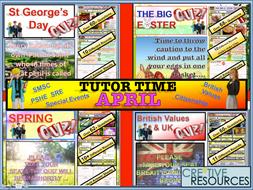 Tutor time activities -April