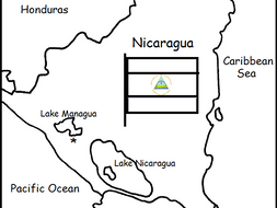 NICARAGUA - Printable handout with map and flag on resource map of samoa, resource map of north america, resource map of sudan, resource map of singapore, resource map of belgium, resource map of ethiopia, resource map of trinidad, resource map of oceania, resource map of rwanda, resource map of mongolia, resource map of mali, resource map of east africa, resource map of cote d'ivoire, resource map of caribbean, resource map of great britain, resource map of new mexico, resource map of uzbekistan, resource map of the united kingdom, resource map of namibia, resource map of guyana,