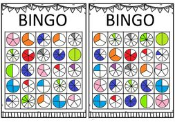 Fraction Bingo! Revision or introduction game.