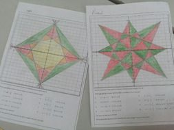 Christmas Star! Straight Line Graphing