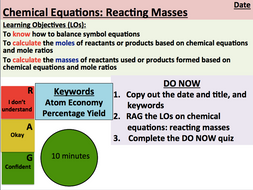 KS5 Chemistry: Chemical Equations (Reacting Masses) (AS Level)