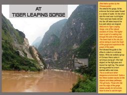 TIGER LEAPING GORGE SOUTH WEST CHINA - PHYSICAL AND CULTURAL STUDY