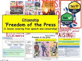 Freedom of the Press - Censorship v Free Speech Media and GCSE Citizenship 9-1