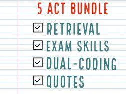Macbeth 5 Acts Complete Set Revision Tasks