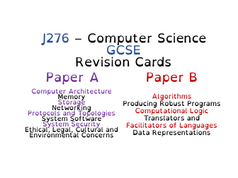 J276 - Theory and Programming Revision