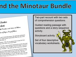 Theseus And The Minotaur Bundle Of 5 Resources