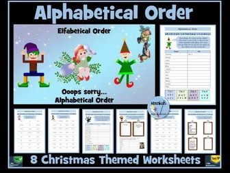 Alphabetical Order - Christmas Themed Worksheets