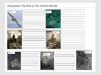 The Rime of the Ancient Mariner Storyboard by Simirai - Teaching ...