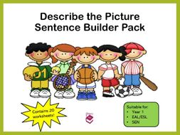 Describe the Picture Sentence Builder Pack
