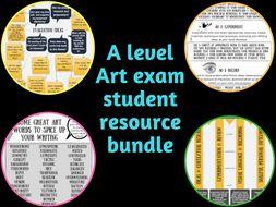 A level art exam support bundle 2018