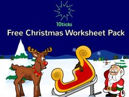 Free 10ticks maths Christmas Activity Pack 2018