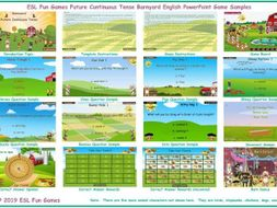 Future Continuous Tense Barnyard English PowerPoint Game
