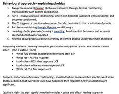 A-Level Psychology: Psychopathology Notes