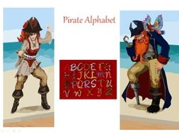 Pirate Alphabet - Talk Like A Pirate Day + Writing Prompt+ 31 Teaching Ideas For Class Teaching
