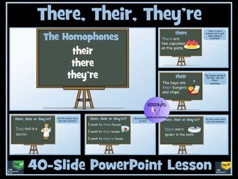 Homophones: Their, There and They're - PowerPoint Lesson