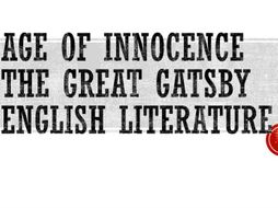 A level English - Age of Innocence and The Great Gatsby Comparison and detailed Essay plans