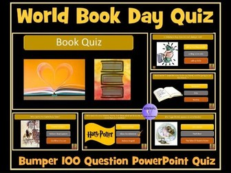 Book Quiz : 100 Questions- Ideal For End of Year Quiz or  End of Term Quiz