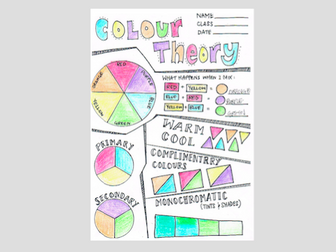 Colour Theory Review 1 - Activity Sheet