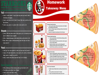 Takeaway Homework(4 Versions: Starbooks, KFC, Pizza, FA League)
