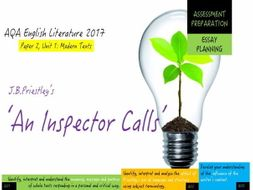 an inspector calls essay 8 Inspector calls essay watch  the inspector is also portrayed as a moral being who realises that the birling family's contribution to eva's death was unethical .