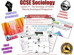 Marxist Perspectives - The Sociology of Family L15/20 [ AQA GCSE Sociology - 8192] KS4 NEW