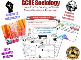 Marxist Perspectives - The Sociology of Family L15/20 [ AQA GCSE Sociology - 8192] KS4 NEW