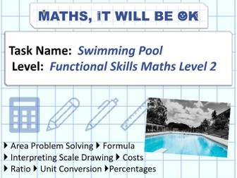 FS Maths Level 2 -Scale - Swimming Pool - Exam Style