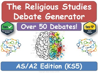 The Religious Studies Debate Generator (KS5, AS, A2, RS, RE, Religious Education)