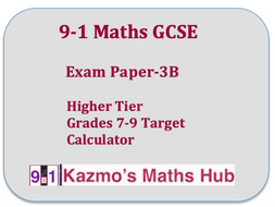 9-1 GCSE Maths Exam Paper
