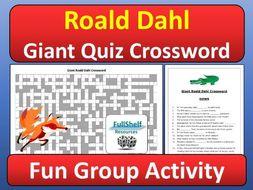 Roald Dahl Quiz Crossword Activity