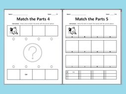 Match the Parts Worksheets Templates [Fully Editable]