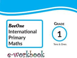 Grade 1 Math Tens & Ones Workbook of 41 pages from BeeOne Books