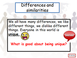 PSCHE lesson on differences