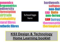 KS3 OR KS4  Design and Technology - Home learning booklet