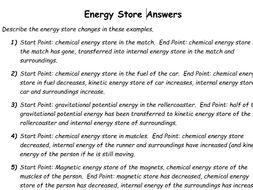New GCSE AQA 9-1: Energy Stores