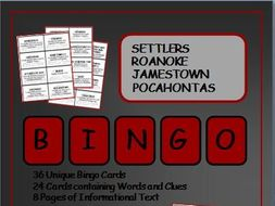Reading Passages and Bingo: Roanoke and Jamestown Settlers