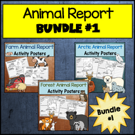 Animal Research Bundle #1: Forest, Arctic & Farm Animals