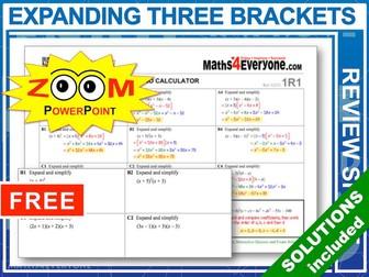GCSE Revision (Triple Brackets)