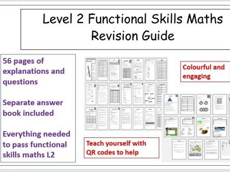Functional Skills Maths L2 Revision Workbook includes answers