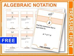 Algebraic Notation (Treasure Hunt)