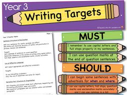 Year 3 Report Targets!