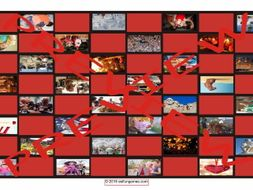 Holidays and Festivals Around the World Checker Board Game