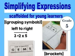 Order of Operations- Simplifying Expressions