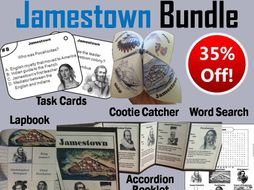 Jamestown Task Cards and Activities Bundle