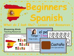 Spanish lesson and resources - What do I look like?