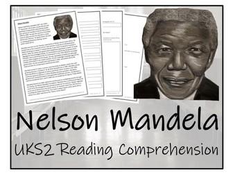 UKS2 History - Nelson Mandela Reading Comprehension Activity