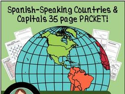 Spanish Speaking Countries Maps PACKET by LaProfesoraFrida ...